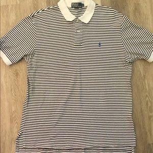 Ralph Lauren Polo Shirt Men's Stripes XL